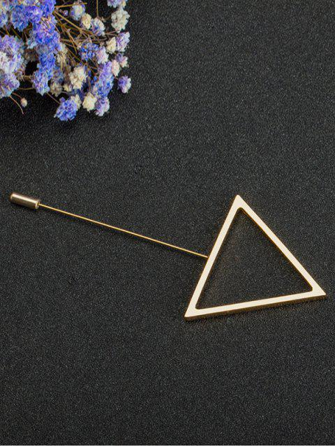 Broche simple triangle en alliage - Or  Mobile