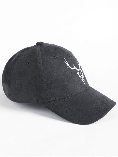 online Elk Head Embellished Faux Suede Baseball Hat - DARK GRAY  Mobile