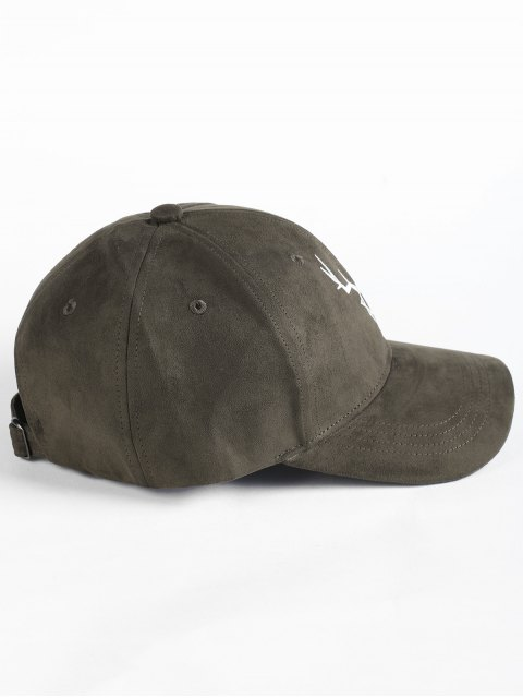 shop Elk Head Embellished Faux Suede Baseball Hat - ARMY GREEN  Mobile