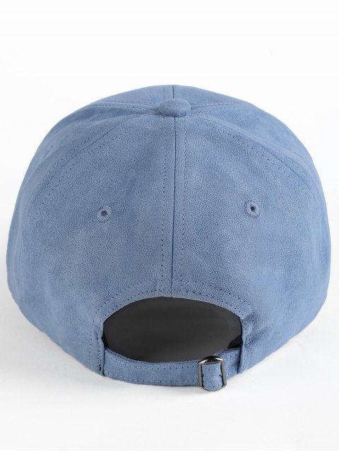 latest Elk Head Embellished Faux Suede Baseball Hat - STONE BLUE  Mobile