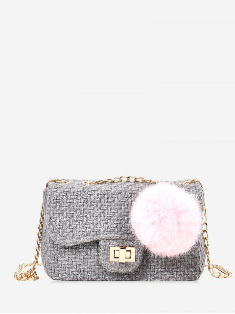 women Chain Crossbody Bag With Pompom -   Mobile