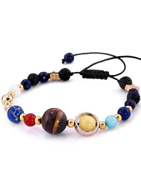 trendy Vintage Star Bolo Beaded Bracelet - COLORMIX  Mobile