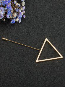 سبيكة مثلث بسيط بروش - ذهبي