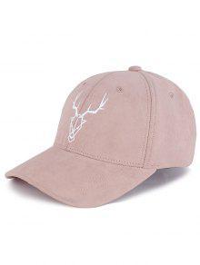 قبعة بيسبول مزينة بنمط ظبي - الفاوانيا الوردي