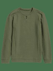 2a2525bfec4 31% OFF  2019 Mens Textured Sweatshirt In ARMY GREEN