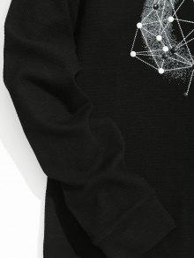 Negro Con Tachuelas 2xl De Sudadera Estampado qAwzZC