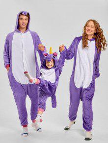 4c6f56159f ... Pijamas de Navidad con unicornio Animal Matching Family Onesie ...