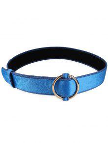 معدن جولة مشبك مزين حزام الخصر السيدات - أزرق