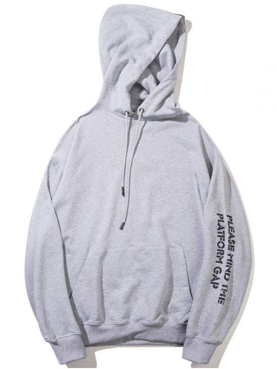 shop Streetwear Graphic Hoodie - GRAY M