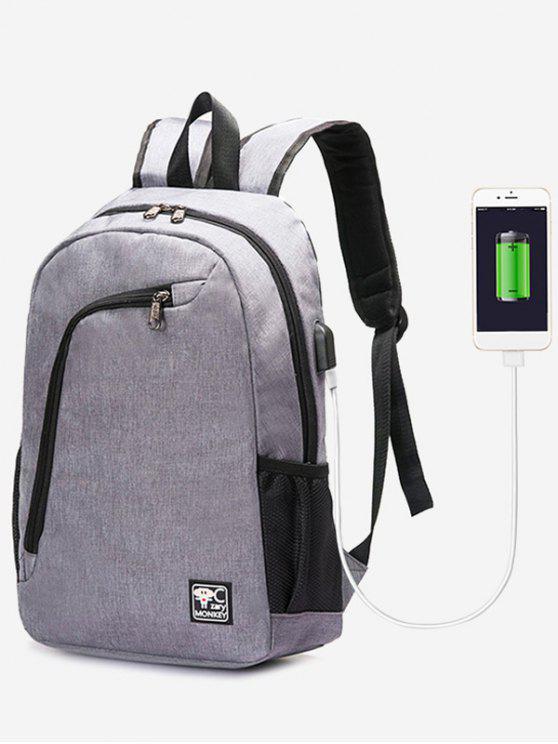Sac à dos pour port de chargement USB - gris