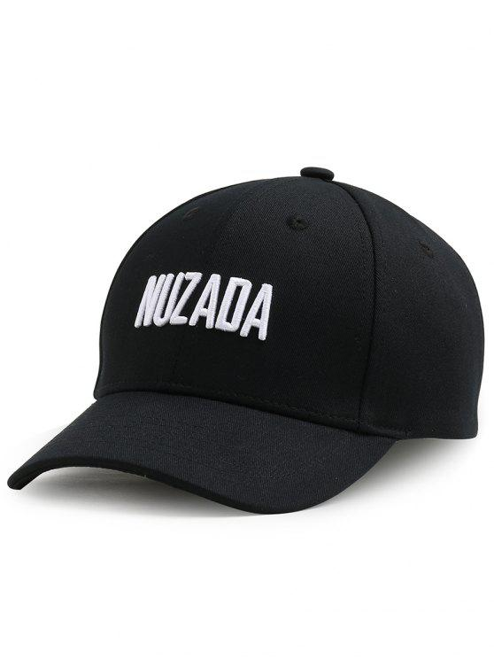 lady Outdoor NUZADA Pattern Embroidery Adjustable Baseball Cap - BLACK