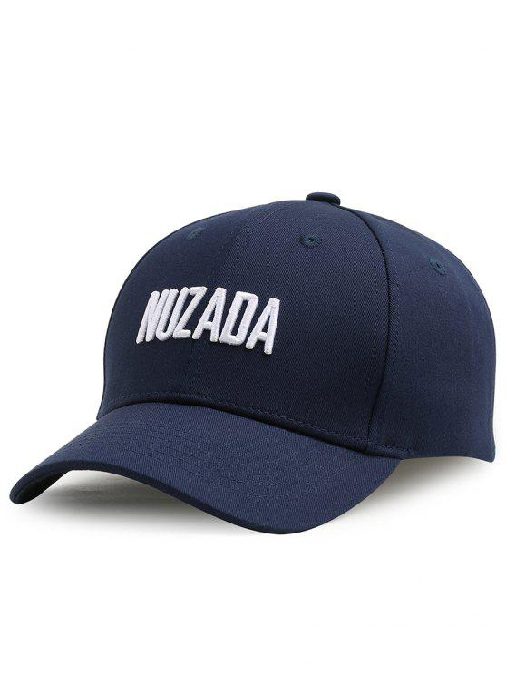 best Outdoor NUZADA Pattern Embroidery Adjustable Baseball Cap - CERULEAN