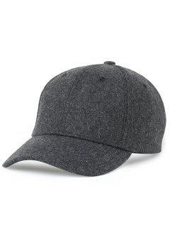 Lines Embroidered Embellished Adjustable Baseball Cap - Deep Gray