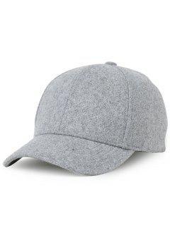 Lines Embroidered Embellished Adjustable Baseball Cap - Light Gray