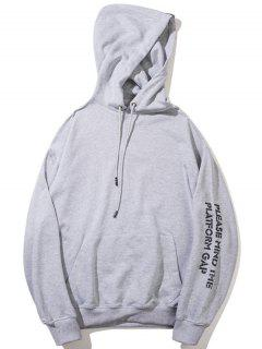 Streetwear Graphic Hoodie - Gray M