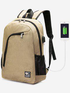 Sac à Dos Pour Port De Chargement USB - Kaki