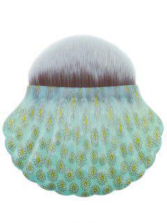 Professional Shell Shape Embellished Foundation Brush - Pale Green