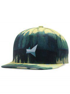 Lake View Pattern Adjustable Baseball Cap - Green