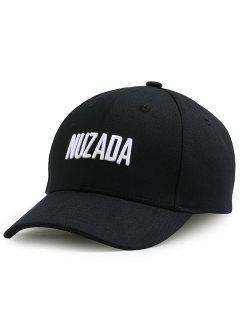 Outdoor NUZADA Pattern Embroidery Adjustable Baseball Cap - Black