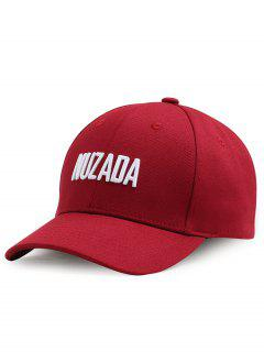 Outdoor NUZADA Pattern Embroidery Adjustable Baseball Cap - Red