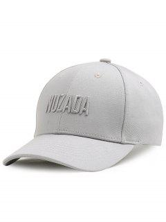 Outdoor NUZADA Pattern Embroidery Adjustable Baseball Cap - Light Grey