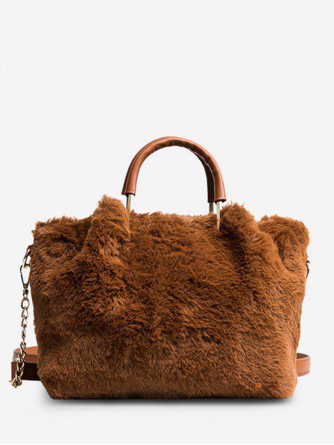 outfits Faux Fur Chain Handbag -   Mobile