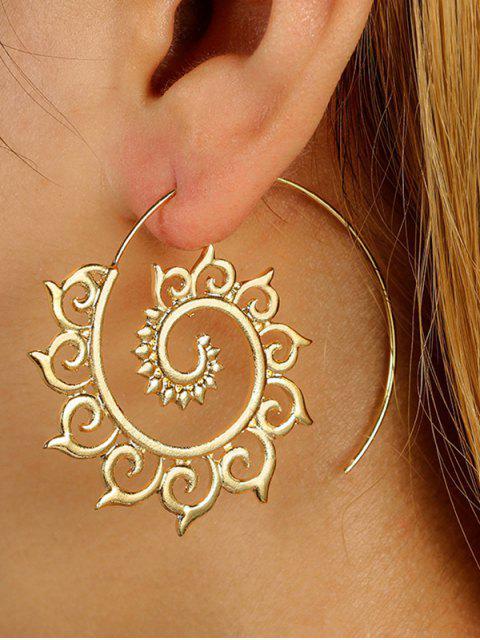 new Unique Metal Hoop Earrings - GOLDEN  Mobile