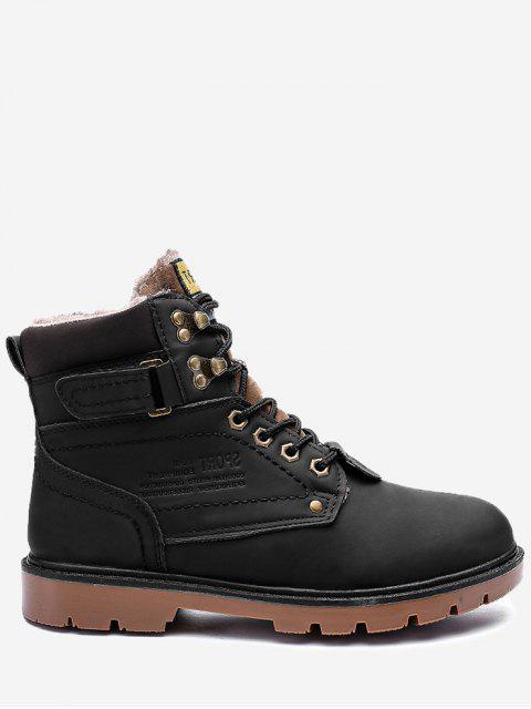 Botas de chukka con punta redonda y forro de piel sintética - Negro 45 Mobile