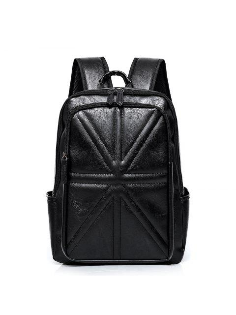 affordable Stitching Quilted PU Leather Backpack -   Mobile