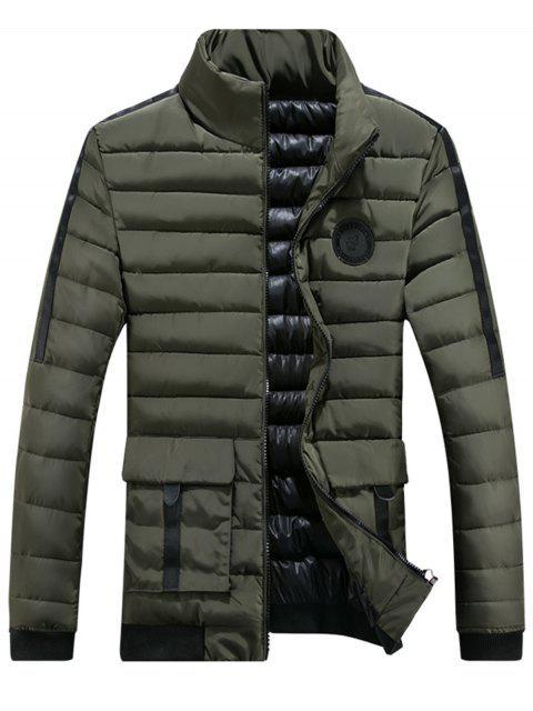 Chaqueta con capucha y cremallera en el pecho con cremallera - Verde XL Mobile