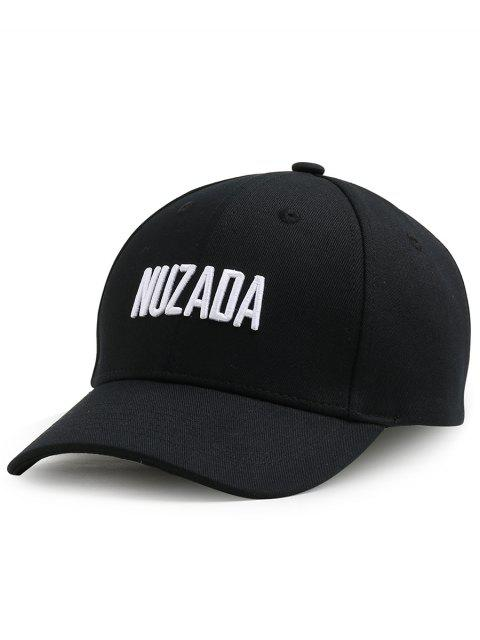 lady Outdoor NUZADA Pattern Embroidery Adjustable Baseball Cap - BLACK  Mobile