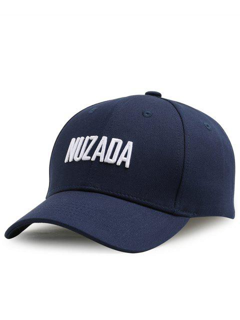 best Outdoor NUZADA Pattern Embroidery Adjustable Baseball Cap - CERULEAN  Mobile