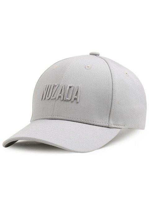 new Outdoor NUZADA Pattern Embroidery Adjustable Baseball Cap - LIGHT GREY  Mobile