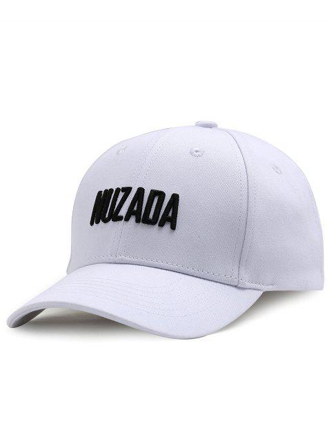 NUZADA Muster Stickerei Justierbare Baseballmütze im Freien - Weiß  Mobile