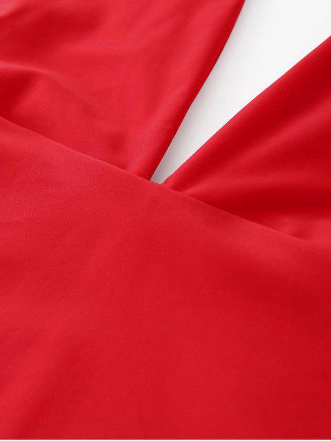 Traje de baño de una pieza - Rojo M Mobile