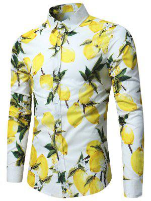 Lemon Print Long Sleeve Shirt