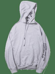 Capucha Graphic Sudadera M Gris Streetwear Con U46wx6
