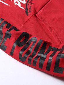 Sudadera Graphic L Kangaroo Streetwear Capucha Con Rojo Pocket XTqrXv