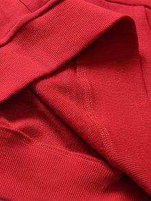 Capucha Con Graphic Pocket Sudadera Rojo L Kangaroo Streetwear TvHx4q4w
