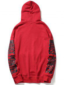 Streetwear Kangaroo L Sudadera Con Graphic Rojo Pocket Capucha 8qRx1xwE4