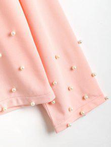 Rosado De Manga Pearly S Larga Camiseta ZHzRUwqO