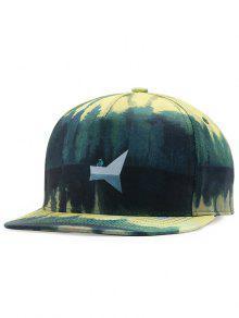 منظر بحيرة نمط قابل للتعديل قبعة بيسبول - أخضر
