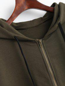 Striped Up Ejercito Zip S Hoodie Drawstring Verde UzvdxqC5w
