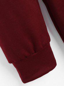 Striped Longline Drawstring Hoodie S Rojo Vino prp7Fq