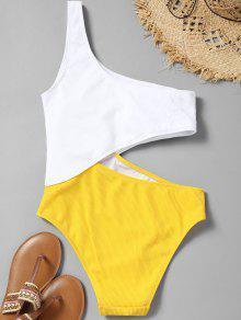 4aa6fde33de Cutout Ribbed One Shoulder Swimsuit; Cutout Ribbed One Shoulder Swimsuit ...