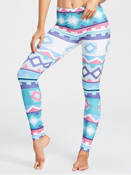 unique Cute Pattern Yoga Tights - MULTICOLOR M