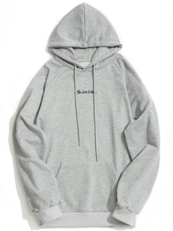 Kängurutasche Chinion Graphic Hoodie - Grau M