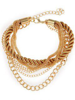 Multilayered Rope Fringed Chain Bracelet - Yellow