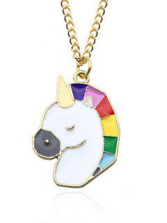 Unicorn Pendant Chain Necklace - Pattern A
