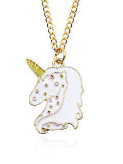 Unicorn Pendant Chain Necklace - Pattern C